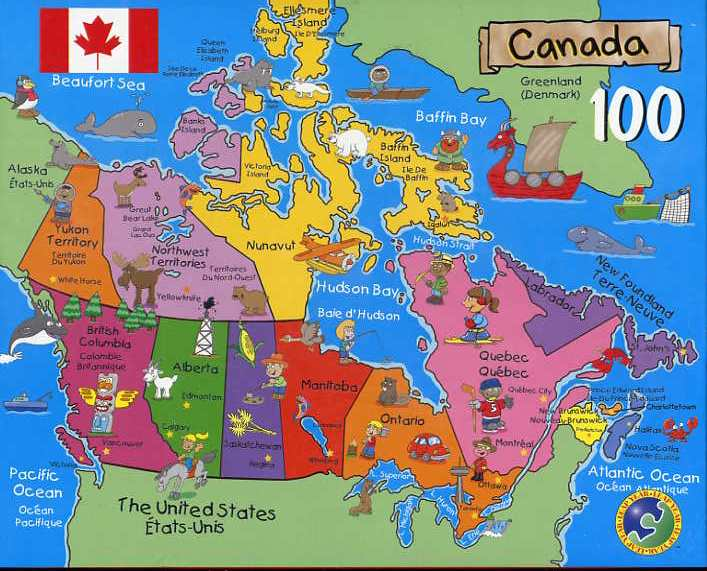 Canadian Map Puzzle - Canada map puzzles